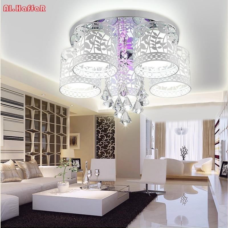 surface mounted modern led ceiling lights for living room light fixture indoor lighting decorative Modern Crystal Ceiling Lights