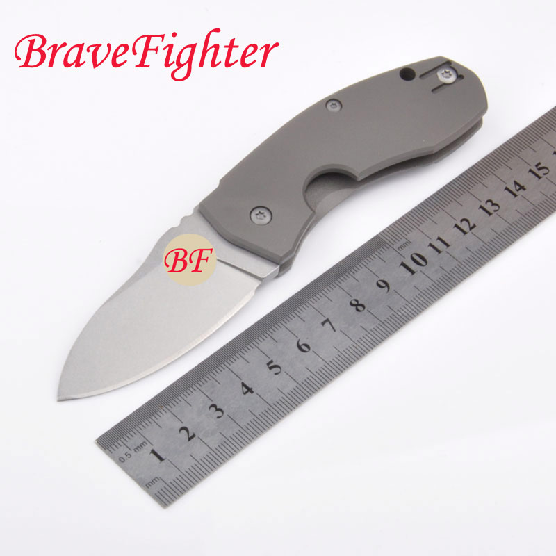 High quality 60-61HRC D2 blade Titanium Alloy handle folding knife outdoor camping survival tool tactical knives outlife new style professional military tactical multifunction shovel outdoor camping survival folding spade tool equipment