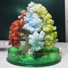 2019 100mm H Colorful Magic Growing Paper Crystals Christmas Tree Kit Artificial Mystic Trees Baby Educational Science Kids Toys