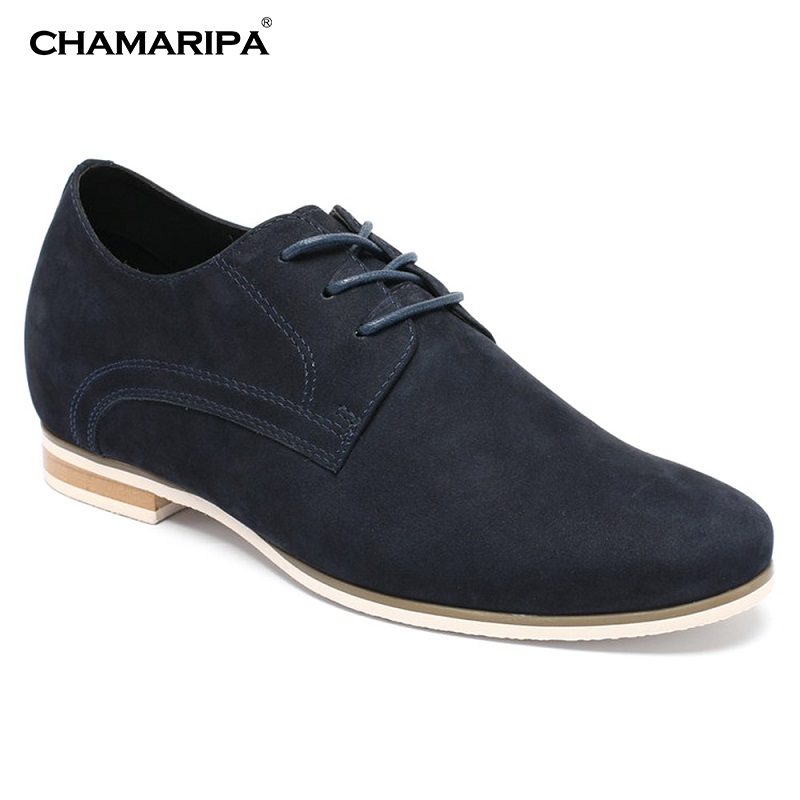 CHAMARIPA Best Elevator Shoes Men 6cm/2.36 inch Increase Height Gentlemen Business Casual Shoes Suede Leather Shoes 015-D13K012 elevator shoes male leather elevator 6cm men s commercial elevator 8cm men s new arrival lacing shoes