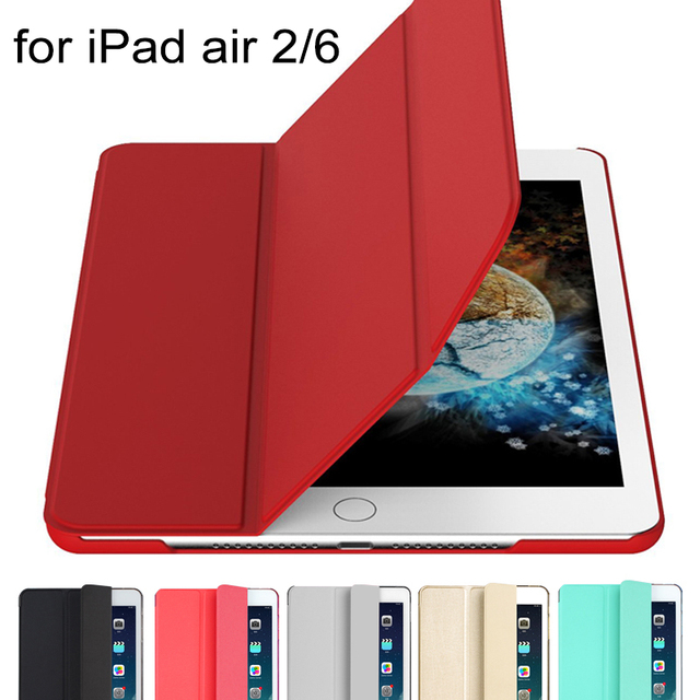 QianNiao For iPad Air 2 Case Luxury PU Leather Ultra thin Flip Wake up Sleep Magnetic Smart Cover for Apple iPad air2 6