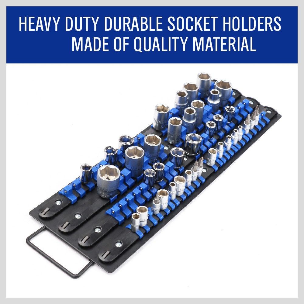 Socket Sleeve Bracket,Heavy Duty Durable Garage Workshop Rail Tool Holder Socket Tray Rack Organizer #1