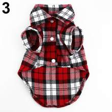 Small Pet Dog Plaid Shirt Lapel Coat Cat Jacket Clothes Costume Top Apparel(China)