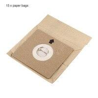 15 Pcs General Vacuum Cleaner Dust Paper Bags 100 110mm Diameter 50mm Vacuum Cleaner Accessories Parts