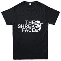 The Shrek Face T Shirt, Fantasy Adventure Movie Inspired Spoof Tee Top 100% Cotton For Man,Summer O Neck Tee,2019 Hot Tees
