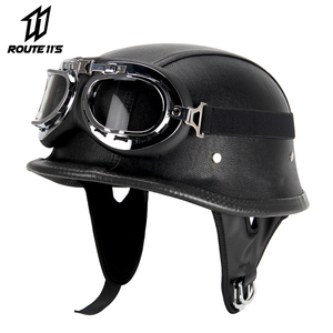 Motorcycle Helmet Leather Helm