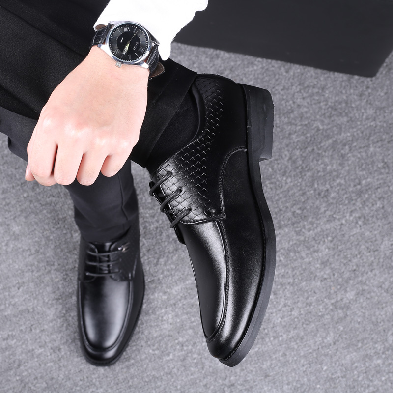 ROXDIA brand plus size 39-48 men dress flats PU leather pointed toe formal wedding shoes men's oxford business flats RXM117