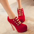 spring and autumn new wedding shoe thick heel ultra high heels shoes sexy bridal women's shoes