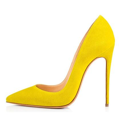 eddb6268994 US $39.19 20% OFF|Carole Levy Sexy Pointed Toe High Heel Shoe for Woman  Yellow Red Black Suede Dress Shoes 2018 Lady Thin Heels Shoe -in Women's  Pumps ...