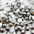 Lowest Price SS3-SS34 Glass Crystal Silver Non Hotfix FlatBack Nail Rhinestones Nail Art Decorations Glitter trim Strass Stones
