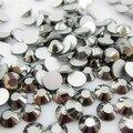 Menor Preço SS3-SS34 Vidro Cristal de Prata Não Hotfix FlatBack Strass Unhas Decorações Da Arte Do Prego Brilho Strass guarnição Pedras