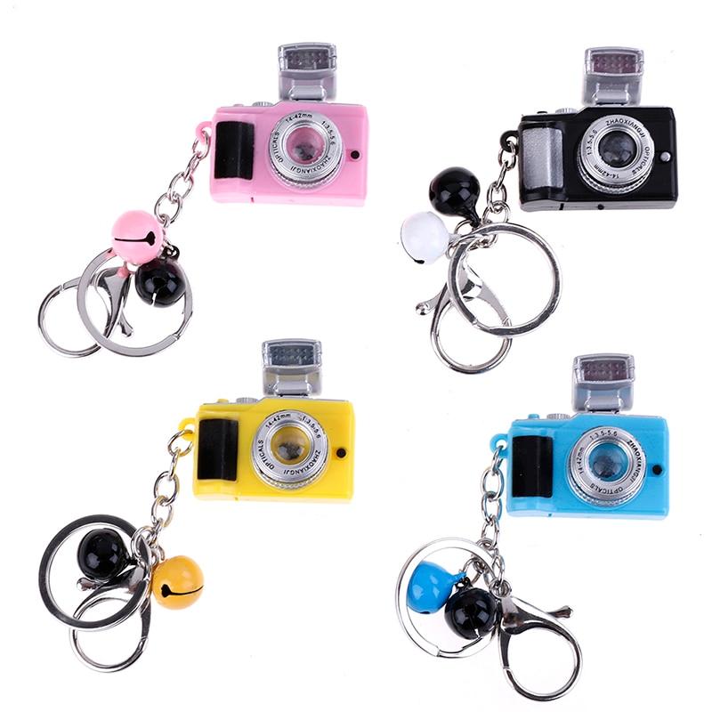 Creative LED Luminous Sound Glowing Pendant Keychain Bag Plastic Toy LED Flash Light Camera Kids Digital SLR Kids Toys