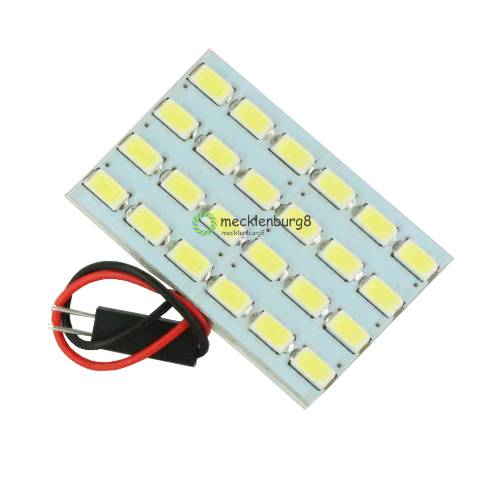 12 V To 3 W 24 LED One-LED Interior Light Bulb Dome Energy Saving Board 5730 Module Reading Light Lamp Super Bright 46x5x25 Mm