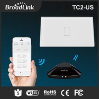 Original Broadlink TC2 US TC2 Touching 1gang Panel WiFi Switch IOS Android Wireless Remote Light Controller