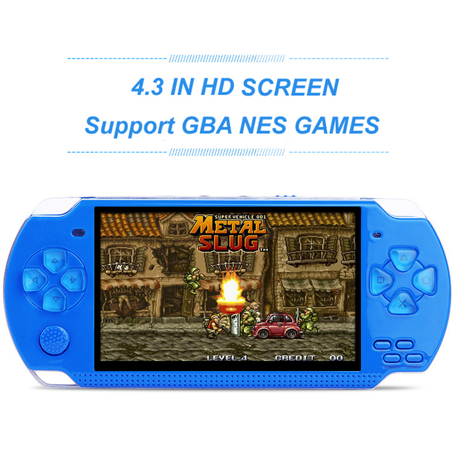 4.3 Inch Handheld Video Game Console Support GBA/NES Games Built-in Hundreds Classic Games Support MP3 Video Camera Game Player