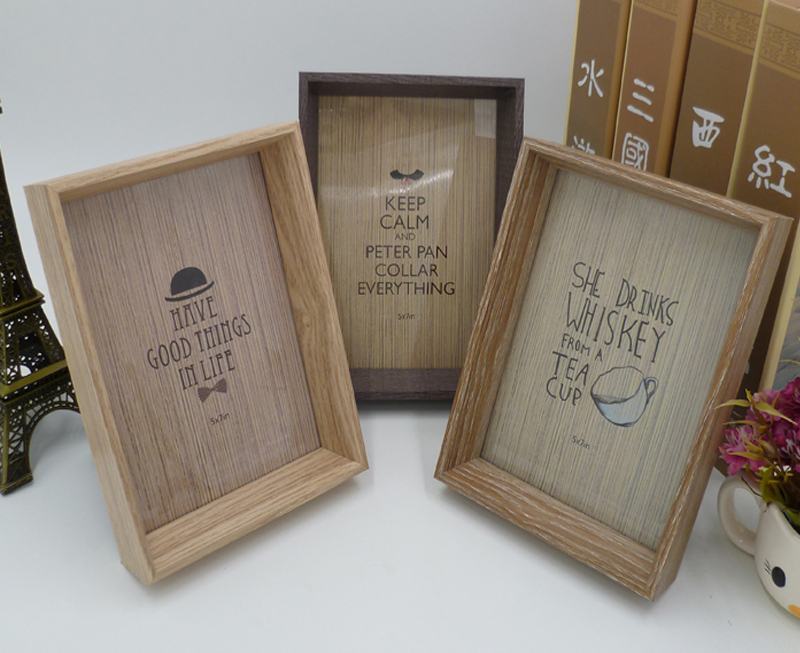 wood frame Creative nature log frame wooden photo frame picture ...