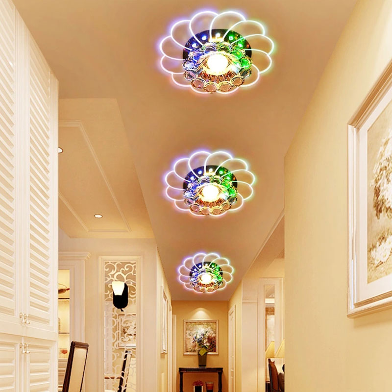 Crystal Light Ceiling Lamp Brilliant Corridor Lamp AC160 ~ 265V Household Supply Room Lighting Bedroom