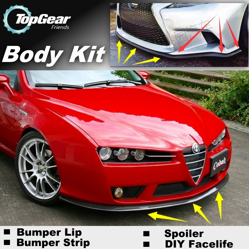 Bumper Lip Deflector Lips For Alfa Romeo Brera Spider Ar