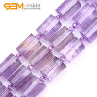 10x14mm Column Faceted Amethysts Beads Natural Stone Beads Loose Beads For jewelry Making Strand 15 Inches Gift Free shipping
