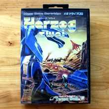 Herzog Zwei 16 Bit MD Game Card with Retail Box for Sega MegaDrive & Genesis Video Game console system