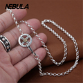 Authentic 100% 925 Sterling Silver Vintage Thai Silver Necklace Chain New Fashion Women Or Men jewelry Punk Locomotive