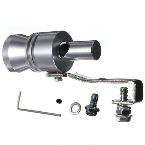 Coche Universal Turbo sonido silbato silenciador tubo de escape volar Vale BOV silbador simulador tamaño M