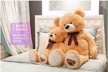 the lovely bear toy plushed toy cute bow stuffed teddy bear birthday gift about 90cm yellow brown