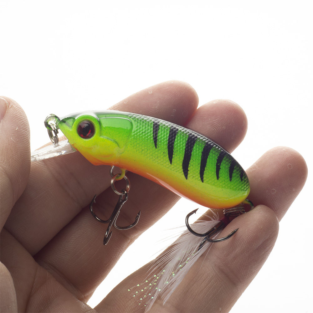 New Minnow Fishing Lure 6cm 10.1g High Quality Floathing Lure Hard Bait Plastic Fishing Tackle Crankbait 2 colors Available afishlure at02 practical double layer lure box hard plastic fishing bait case 12cmx10cmx3 4cm fishing tackle tool container