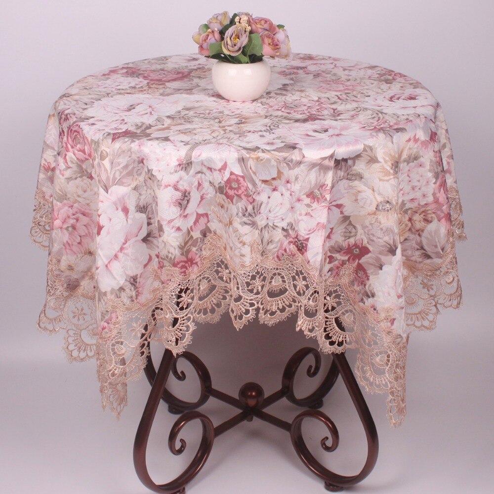 Элегантный цветочный жаккард Прямоугольник атласная скатерть для столовой таблицы/пыле квадратный стол Чехлы для мангала для Кофе Таблица