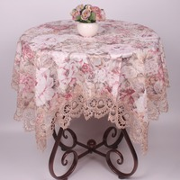 Elegant Floral Jacquard Rectangle Satin Tablecloth For Dinning Tables Dustproof Square Table Covers For Coffee Table