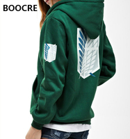 Unisex Anime Attack On Titan Hoodies Jacket Sweatshirt Shingeki No Kyojin Legion Zipper Hooded Coats Cosplay