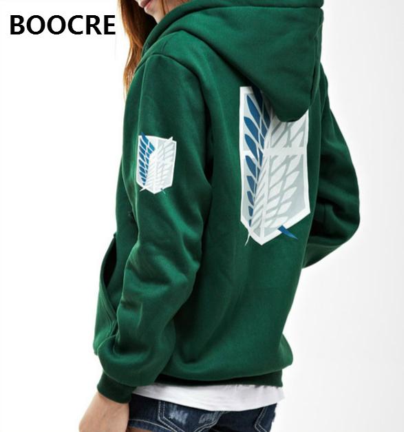Anime Attack on Titan Hoodies Jacket Sweatshirt Shingeki no Kyojin Legion Zipper Hoodie