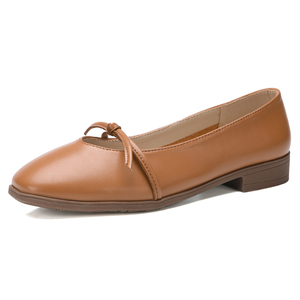 Image 2 - STQ 2020 Autumn Women Ballerina Flats Genuine Leather Shoes Slip On Loafers Women Flats Woman Grandmother Loafers Shoes 1901