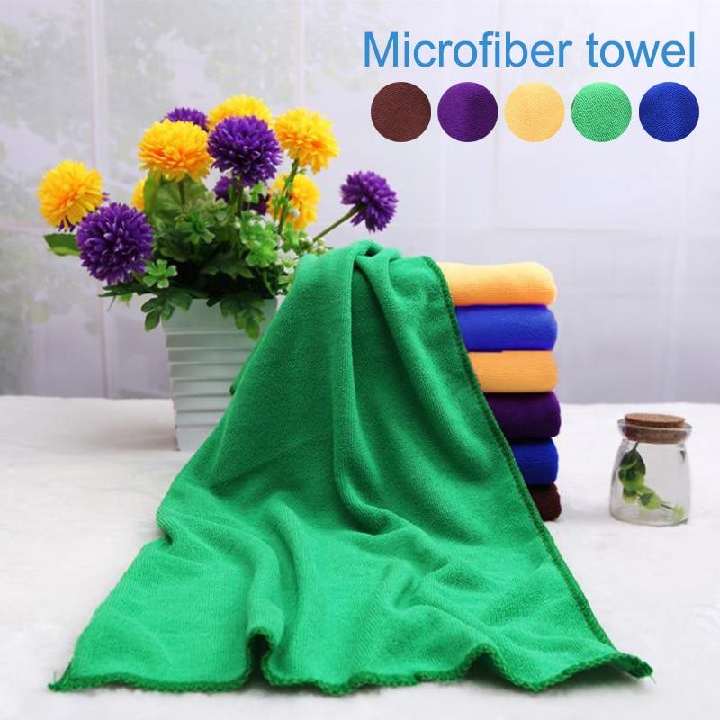 Fashion Soild Microfibre Towel Soft Fibre Towel for Swimming Pool Camping Travel Sports Yoga 25*25cm/30*70cm @LS