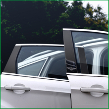 цена на Car Styling For Ford Escape Kuga 2013 2014 2015 2016 2017 2018 Center Window Middle Pillar Frames Covers Trim Sticker Decoration
