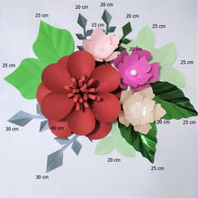 Handmade Mix Color Rose DIY Paper Flowers Green Leaves Set For Nursery Wall Deco Boys Room Baby Shower Backdrop Video Tutorials