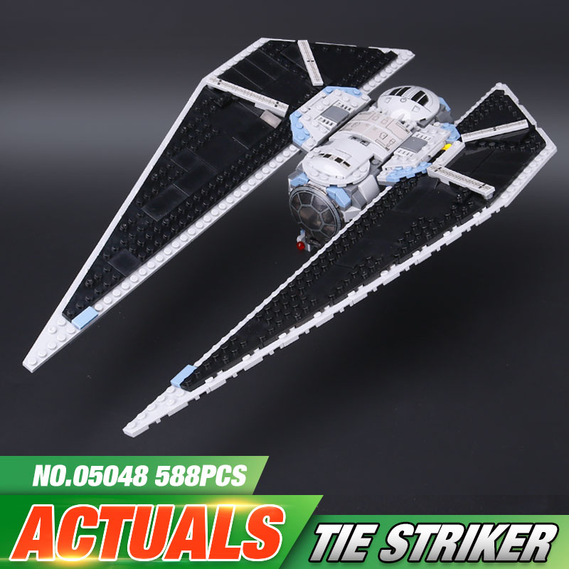 Lepin 05048 543Pcs Star Seiers The TIE set Striker Set 75154 Educational Building Blocks Bricks War Toys Model as Christmas Gift lepin 05048 star series wars 543pcs the tie striker fighter model building blocks bricks toys compatible with 75154 children toy