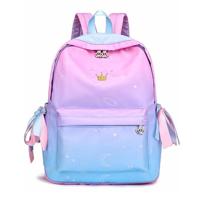 2019 New Hot School Backpack Girls School Bags Pink Schoolbags Children Book Bag Printing Lightweight Backpack Female Sac A Do