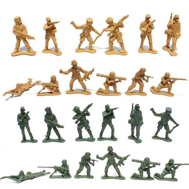 Armée Homme Set 100 pcs/ensemble Soldats Formation Militaire de Base À Partir D'un Lot De Children Action Toy Figure cadeau de noël