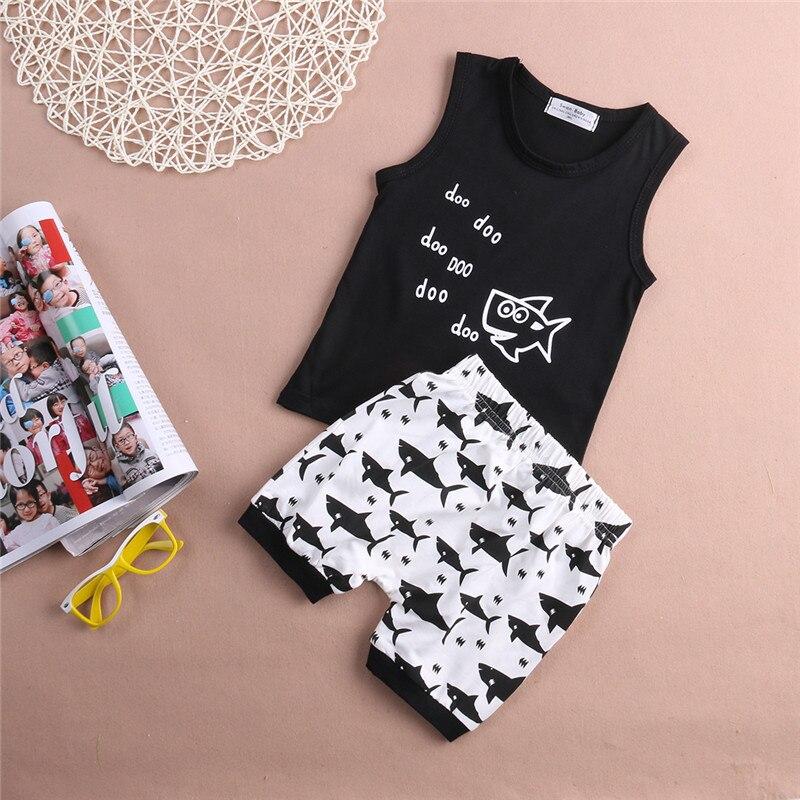 2017-new-hot-summer-cartoon-printing-shark-baby-clothing-set-fashion-hot-sleeveless-T-shirt-and-high-waisted-shorts-for-summer-3