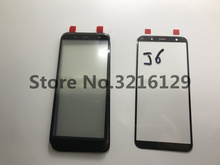 10 adet YENI Orijinal yüksek kalite LCD Ön Dokunmatik Ekran Cam Dış Lens Samsung Galaxy J6 J600 J600F J600G J600DS j6 + artı