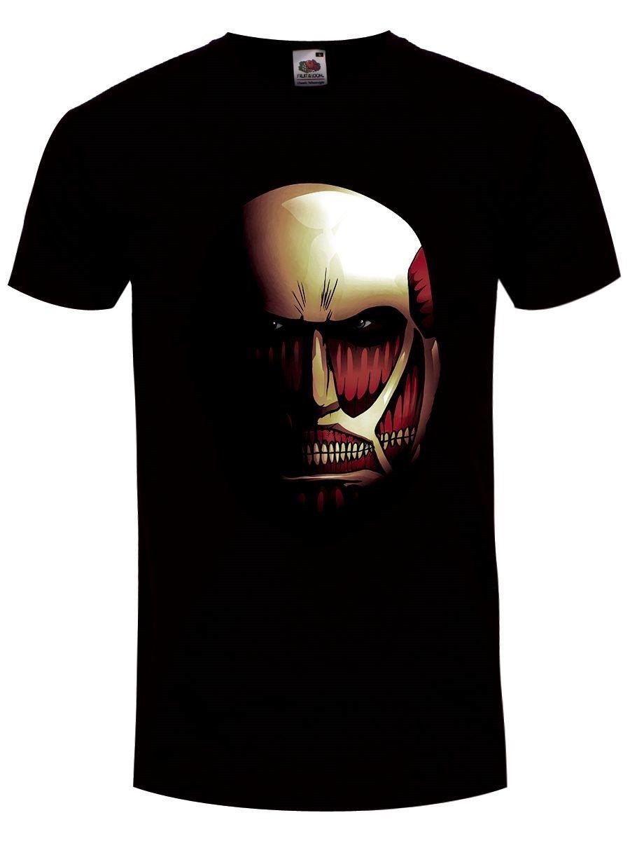 LAttaque des Titans T-shirt Le Titan colossal Homme Noir Print Tee Shirt Men Short Sleeve top tee Casual Short Sleeve Tee