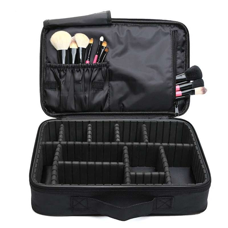 ALYMLH  Brand Women Travel Large Double Layer Professional Cosmetic Cases For Organizer Tattoos Nail Art Tool Beauty Makeup Bag soft nail caps for dog claws brown large size purrdy paws brand