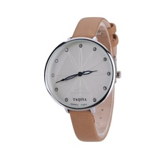Новые женские Простые Модные пара большой циферблат Кварцевые часы тенденция часы камень