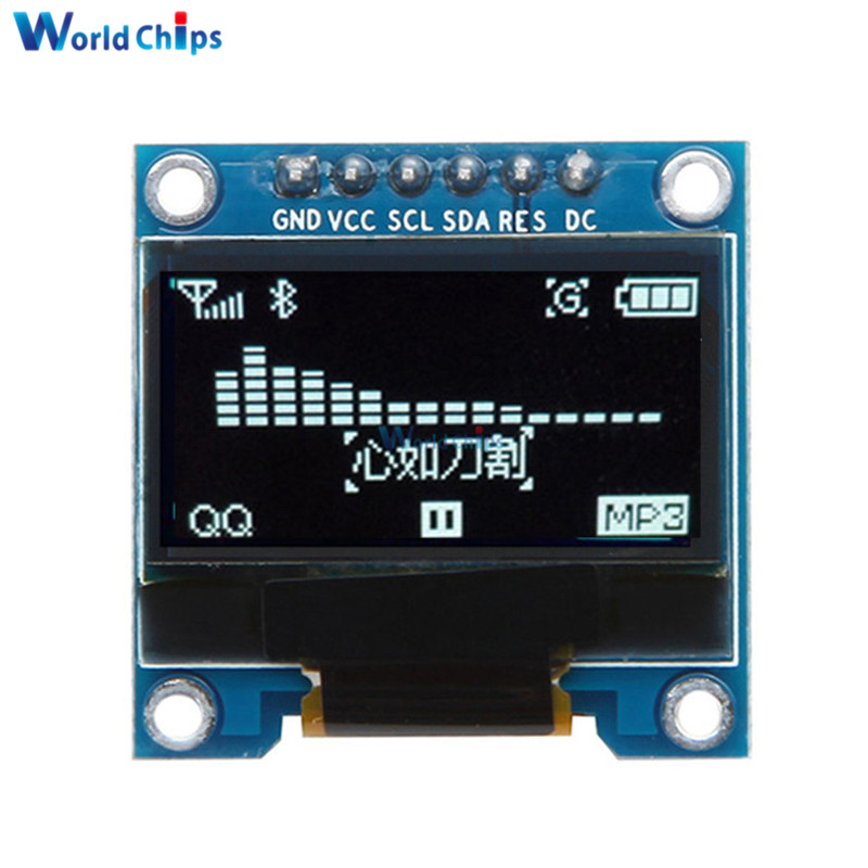 0.96 Inch 6Pin IIC I2C OLED White LCD Display Module 12864 SPI Interface 0.96
