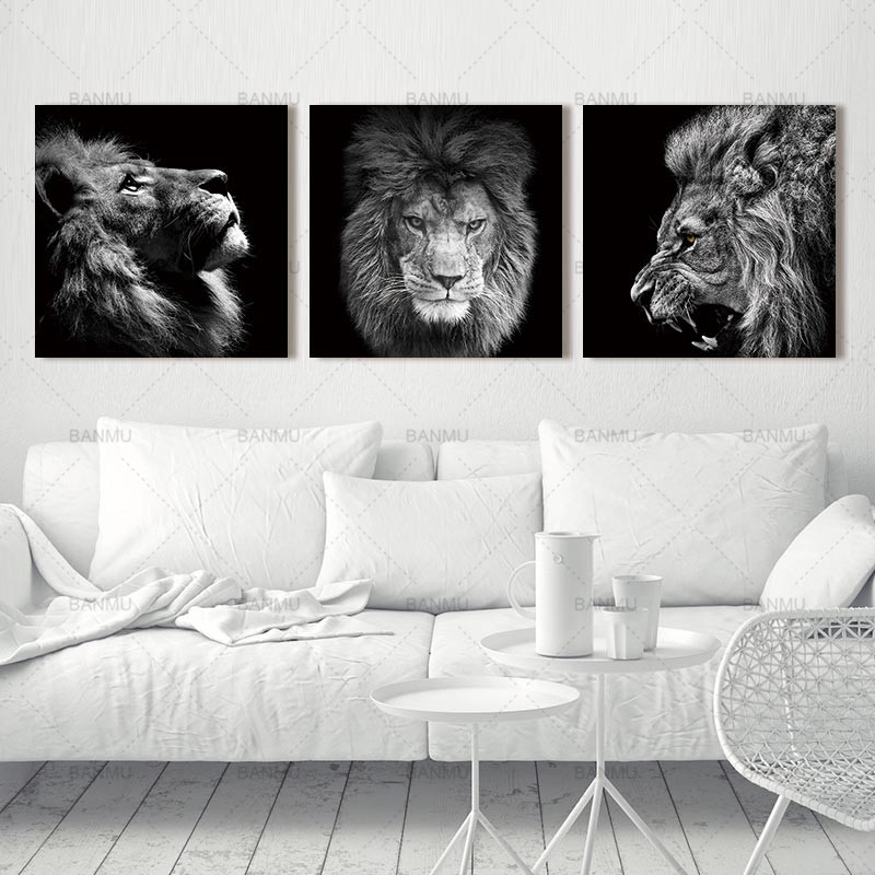 HTB1HhpVwbGYBuNjy0Foq6AiBFXaX Animal lion art prints Wall Art Pictures Canvas Painting abstract canvas poster painting decoration for living room art picture