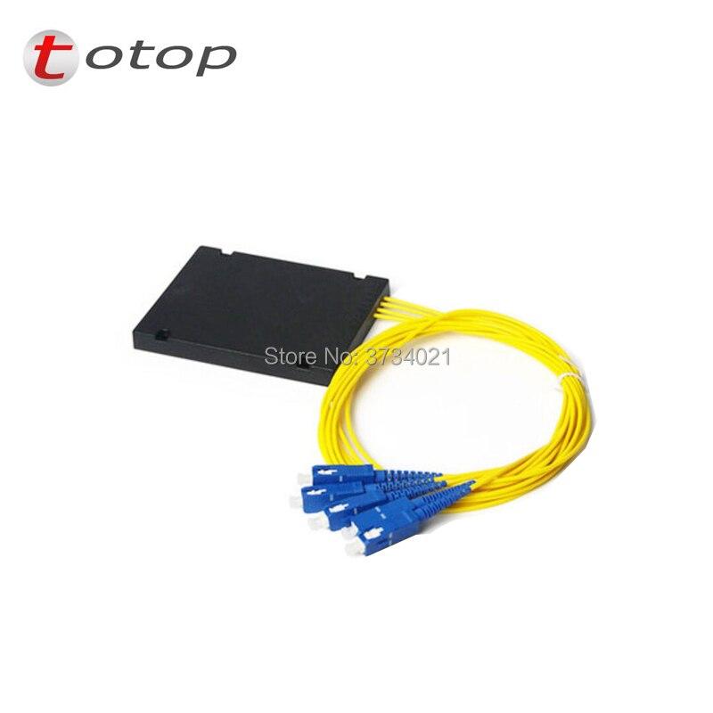 FREE SHIPPING SC UPC MINI PLC 1X4 Single mode LC fiber optic splitter FBT Optical Couple with best quality