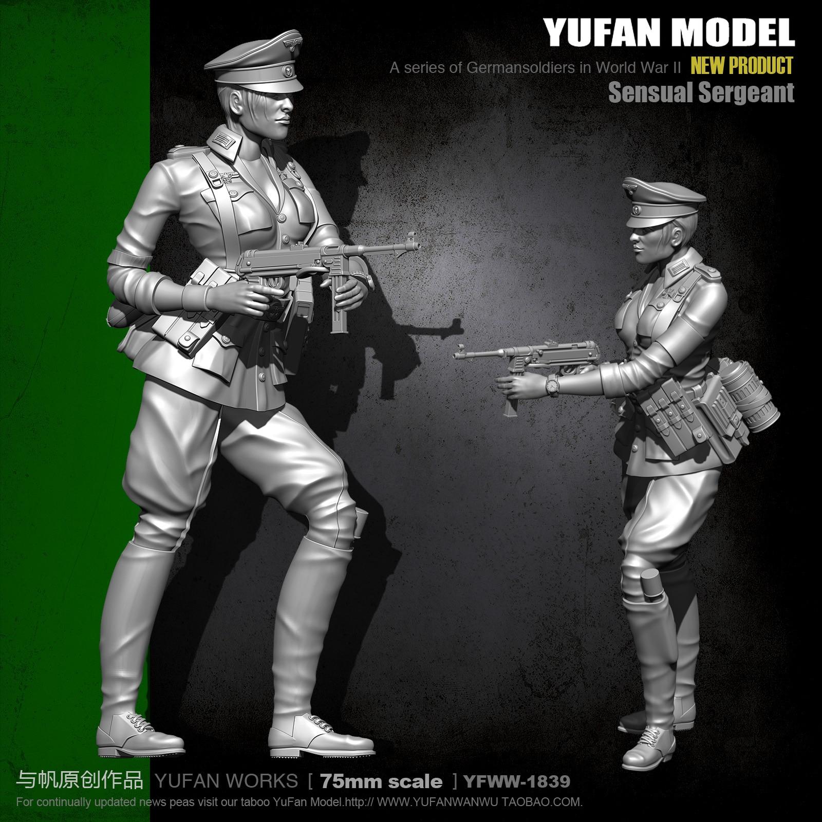 Yufan Model 1/24  75mm Soldier Model Kit Figure Unmounted  Yfww-1839