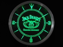 Nc0477 Whiskey Neon Sign Horloge Murale LED (a048-b conception) En Gros Dropshipping