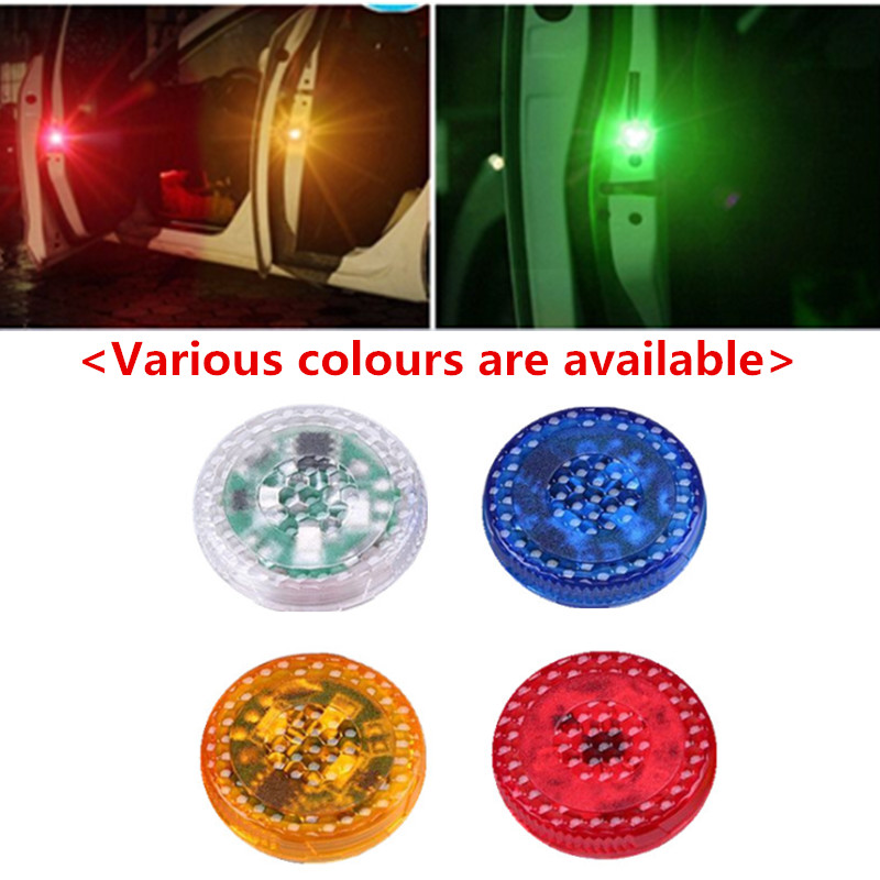 2x LED Car Door Warning Lights Accessories Sticker For <font><b>Infiniti</b></font> <font><b>FX35</b></font> Q50 G35 <font><b>QX70</b></font> FX G37 Q30 QX56 I30 M35 <font><b>FX37</b></font> QX4 QX60 FX50 M37 image